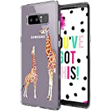 Galaxy Note 8 Case, Galaxy Note 8 Clear Case, MOSNOVO Cute Giraffe Pattern Clear Design Printed Transparent Plastic Back Case with TPU Bumper Protective Case Cover for Samsung Galaxy Note 8