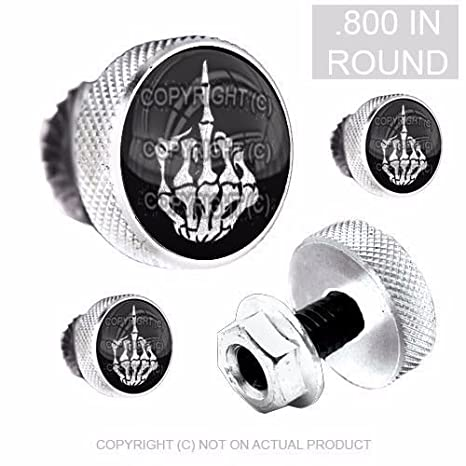 Motorcycle Accessories Other Motorcycle Accessories 4 Black 3D Skull License Plate Frame Fastener Tag Bolts for Motorcycle WHITE