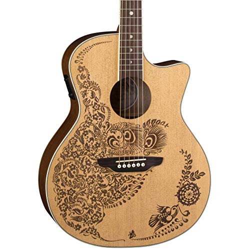 (Luna Henna Oasis Select Spruce Acoustic/Electric Guitar, Open Pore Natural)