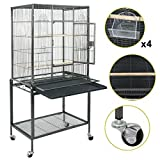 Super Deal 53''/61''/68'' Large Bird Cage Play Top Parrot Chinchilla Cage Macaw Cockatiel Cockatoo Pet House (53 Inch)