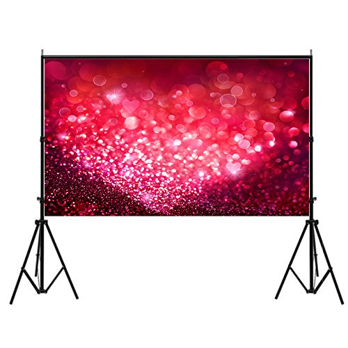 Focussexy 5x7ft Pink Temptation Pattern Photography Backdrop Photo Video Studio Fabric Background Screen for Cosplay Halloween -