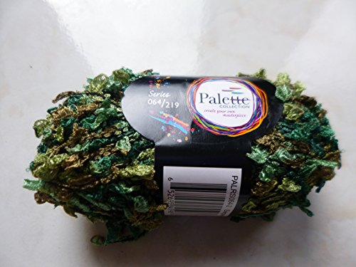 Palette Boucle Novelty Evergreen (Shades of Green and Brown) - Boucle Yarn Nylon