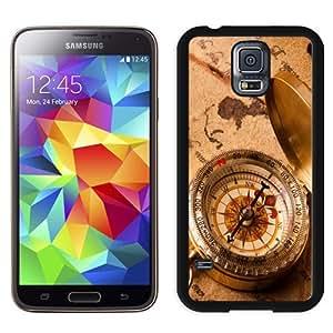 NEW Unique Custom Designed Samsung Galaxy S5 I9600 G900a G900v G900p G900t G900w Phone Case With Vintage Compass_Black Phone Case