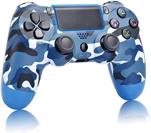 Game Controller for PS4,Wireless Controller with Dual Vibration Game Joystick (Navy Blue)