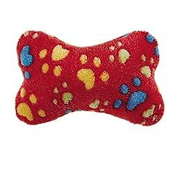Zanies Ruff \'N\' Tumble Bone Dog Toys, Large Red, 12\