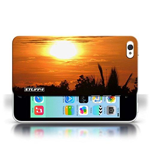 Etui pour Apple iPhone 5C / ciel orange conception / Collection de Coucher du Soleil
