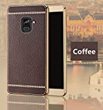 Excelsior Premium Silicon back cover case for Samsung Galaxy A8 Plus/A8+ 2018 (Coffee)
