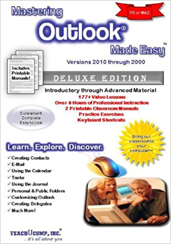 2007 2010 XP /& 2000 2002 Mastering Microsoft Outlook Made Easy Training Tutorial v 2003 How to use Outlook e Book Manual Video Guide from Professor Joe