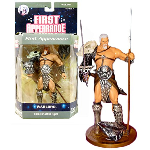DC Direct Year 2007 DC Comics Series 4 First Appearance 6-1/2 Inch Tall Collector Action Figure - WARLORD with Spear, Sword with Sheath, War Helmet and Display Base