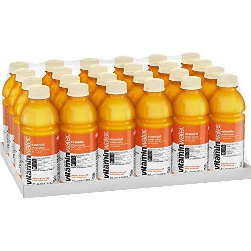 vitaminwater essential electrolyte enhanced water w/ vitamins, orange-orange drinks, 20 fl oz, 24 Pack
