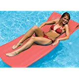 "74"" Sofskin Coral Red Floating Swimming Pool Mattress Raft"