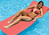 74'' Water Sports Sofskin Coral Red Floating Swimming Pool Mattress Raft