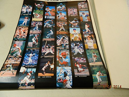 1968 Sports Illustrated Advertising Poster Mantle,Clemente,Aaron/Others Nr Mint from Los Angeles Sports Distributors