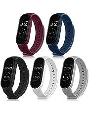 Pacote com 5 pulseiras esportivas para Mi Band 5 pulseiras de substituição de silicone macio para Xiaomi Mi Band 5 (preto + branco + cinza + vinho vermelho+ azul marinho) Título