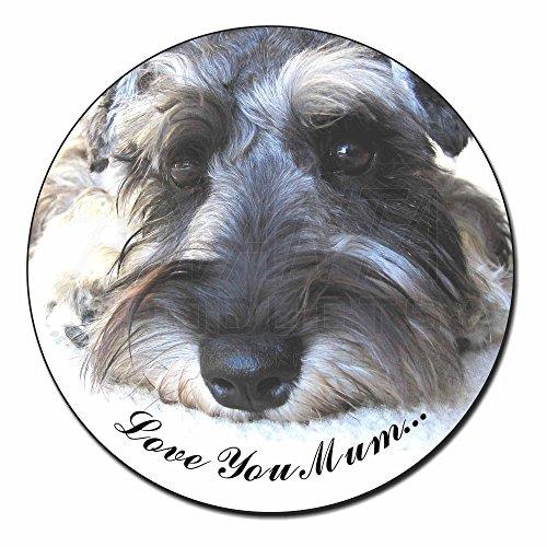 Schnauzer Dog 'Love You Mum' Fridge Magnet Stocking Filler Christmas Gift