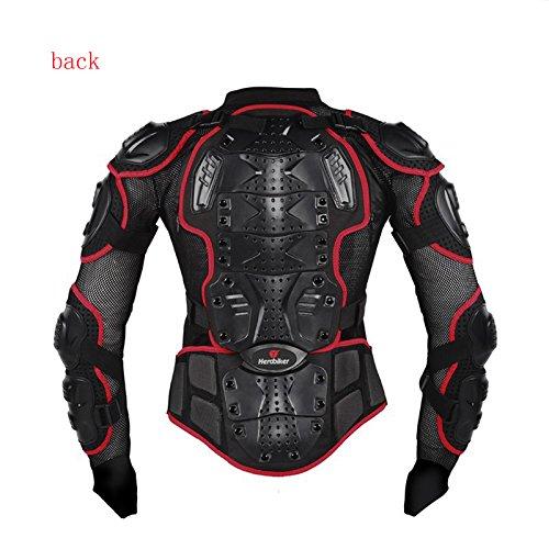 Kaigeli888 Profi Motorradjacke - Mit Protektoren - Prevent Herbst Motorradjacke (XL, Rot,wählen Sie bitte die größere Größe)