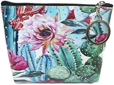 Fossrn Mujeres Monedero de Flor Cactus Estampado Billetera ...