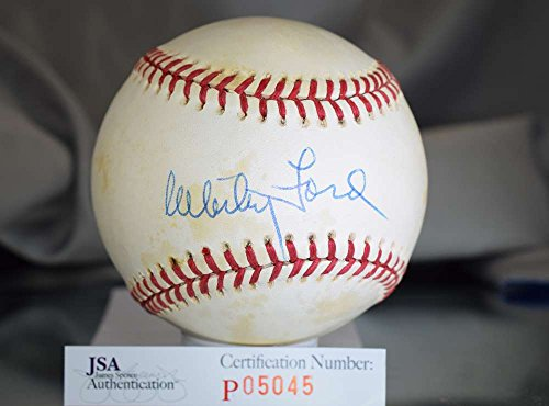 WHITEY FORD JSA SIGNeD AMERICAN LEAGUE BASEBALL AUTOGRAPH AUTHENTIC (Baseball Whitey Ford)