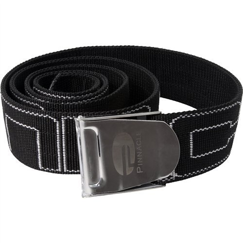 Pinnacle Standard Webbed Weight Belt (Black) (Diving Pinnacle Belt)