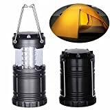 CSKB Led Camping Lights, Portable LED Camping Lantern Flashlights, Camping Lights, for Camping, Hiking, Fishing, Reading, Emergency, Hurricane, Power Outage (Black, Collapsible)