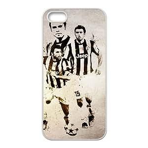 iPhone 5 5s Case Covers Blanca Juventus Andrea Barzagli único protector de caja del teléfono J7Z1TW
