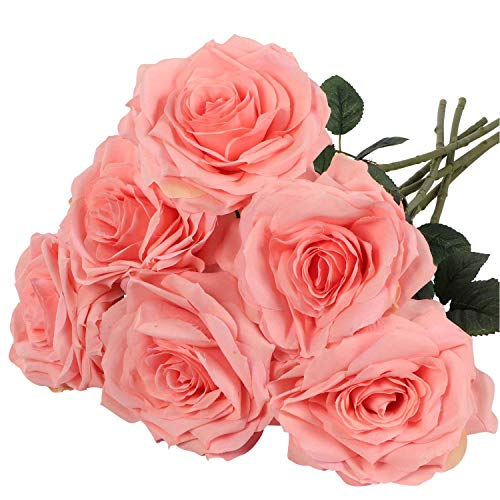 - 6 Artificial Pink Roses, 6