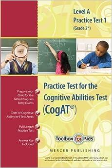 Cognitive Abilities Test CogAT? Multilevel A Book (Grade 2*) - Practice Test 1 (Form 6) by Mercer Publishing (2010-05-03)