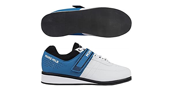 More Mile More Lift 4 - Zapatillas de levantamiento de pesas para hombre - Color blanco, blanco y azul, UK 6.5 - US 8.5: Amazon.es: Deportes y aire libre