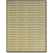 "Gold Foil Return Address 1 3/4 x 1/2 for Laser Printers - 800 Labels by ""Desktop Publishing Supplies, Inc."""