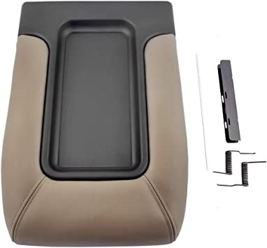 07-13 Chevy Cadillac GMC Pickup Truck SUV Front Seat Center Console Black Lid