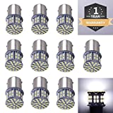 #10: Cargo LED 10 Pcs Extremely Super Bright 1156 1141 1003 1073 BA15S 7506 50 SMD 3014 LED Replacement Light Bulbs for RV Indoor Lights 6000K Xenon White