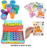 Booboolala Kids Party Supply Set. 48 Piece Set of Make-Your-Own Sea Sticker Sheets (24) and Sea Creature Stampers (24). Great for Parties, School, or Craft Time! Let Your Kids get Creative! by