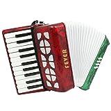 Fever F228-MX Piano F228-MXAccordion 22 Keys 8 Bass, Red, White, Green