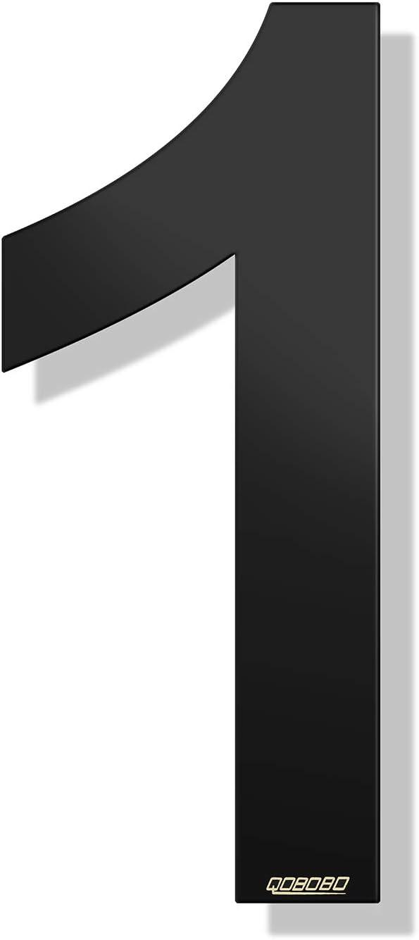 1 pieza qobobo/® N/úmeros Casa Negro 8 Ocho de acero inoxidable 304 Pulverizar 904 Polvo Antracita Mate 200 mm
