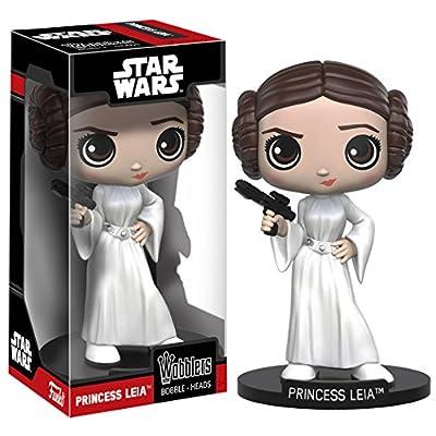 Funko Wobbler Star Wars Princess Leia Bobble-Head Action Figure: Funko Wacky Wobbler: Toys & Games