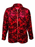 Style & Co. Women's Damask Lace Print Velour Jacket (PS, Prussian Red)