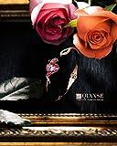 Qianse Rose Lover Rose Gold Bangle Bracelets Swarovski Crystals Jewelry for Women Birthday Gifts for Women Anniversary Gifts for Her Gifts for Girlfriend Wife Mom Sister Friend Grandma