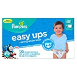 Health & Personal Care : Pampers Easy Ups Training Pants Pull On Disposable Diapers for Boys Size 6 (4T-5T), 120 Count, ONE MONTH SUPPLY