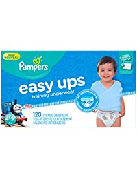 Easy Ups Disposable Training Underwear Boys 4T-5T (Size 6), 120 Count (One Month Supply)