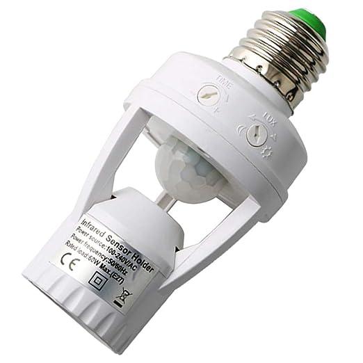 KINYOOO E27 Soporte de lámpara de luz, 360 grados ...