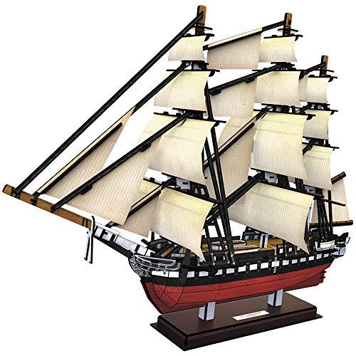 CubicFun 3D Puzzles USS Constitution Vessel Ship Model Building Kits 193 Pieces