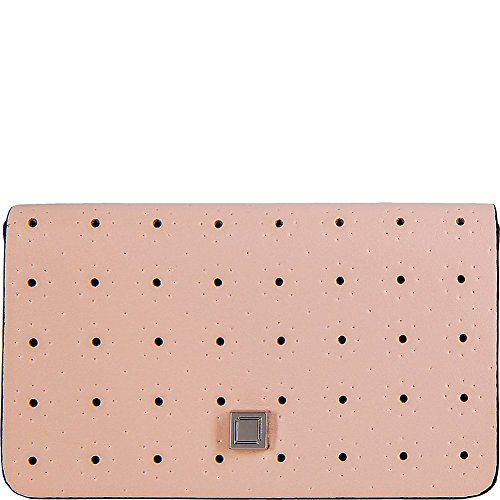 Lodis Blair Perf Mini Card Case (Blush/Taupe, One Size)