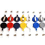 Reediy set of 25 Retractable Badge Reel Badge Holder with Clip for ID Badge Holders in Assorted Colors