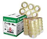 36 Rolls 2.0 mil Multi-Purpose Industrial Shipping Packing Carton Sealing Tapes 2'' x 110 yds (330 ft) Clear CT-20-2110