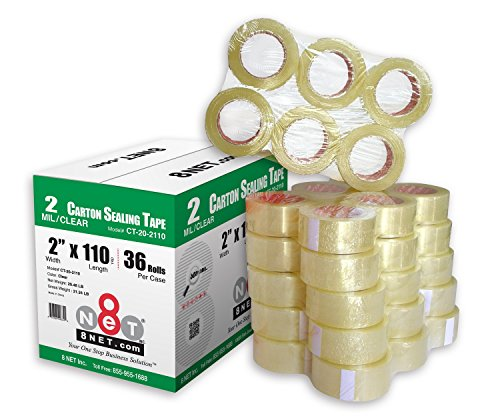 Yds Clear Tape - 36 Rolls 2.0 mil Multi-Purpose Industrial Shipping Packing Carton Sealing Tapes 2