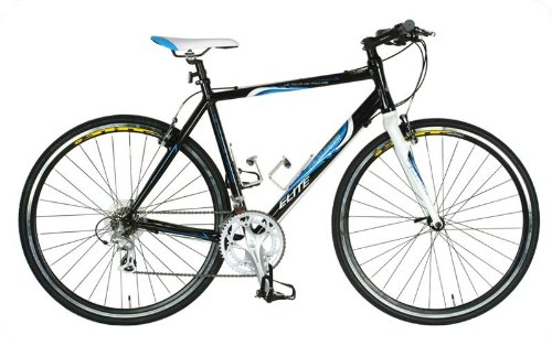 Tour de France Packleader Elite Fitness Bike, 700c Wheels, Men's Bike, Black, 49 cm Frame