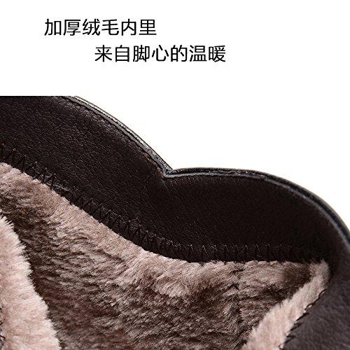 Black abuela cálida En viejo fondo mamá botas cachemira botas suave el zapatos con invierno GTVERNH en planos Cotton zapatos Ua8Cx8wd