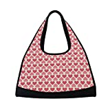 Sport Gym Bag Valentine's Day Heart Love Canvas Travel Duffel Bag