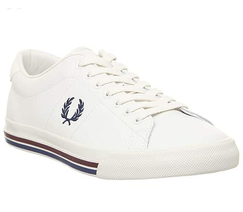 Fred Perry Underspin Leather Hombre Zapatillas Blanco: Amazon.es: Zapatos y complementos
