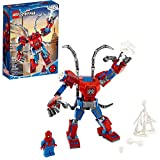 Toys : LEGO Marvel Spider-Man: Spider-Man Mech 76146 Kids' Superhero Building Toy, Playset with Mech and Minifigure, New 2020 (152 Pieces)